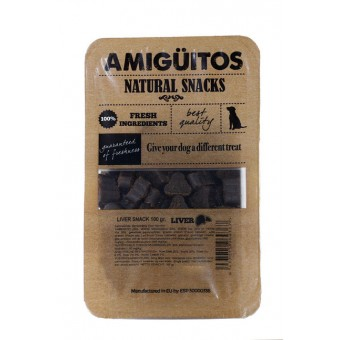 Amiguitos Dogsnack Varkenslever (kip & vis)